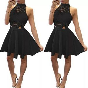 Hollow Out Summer Sleeveless Party Dress